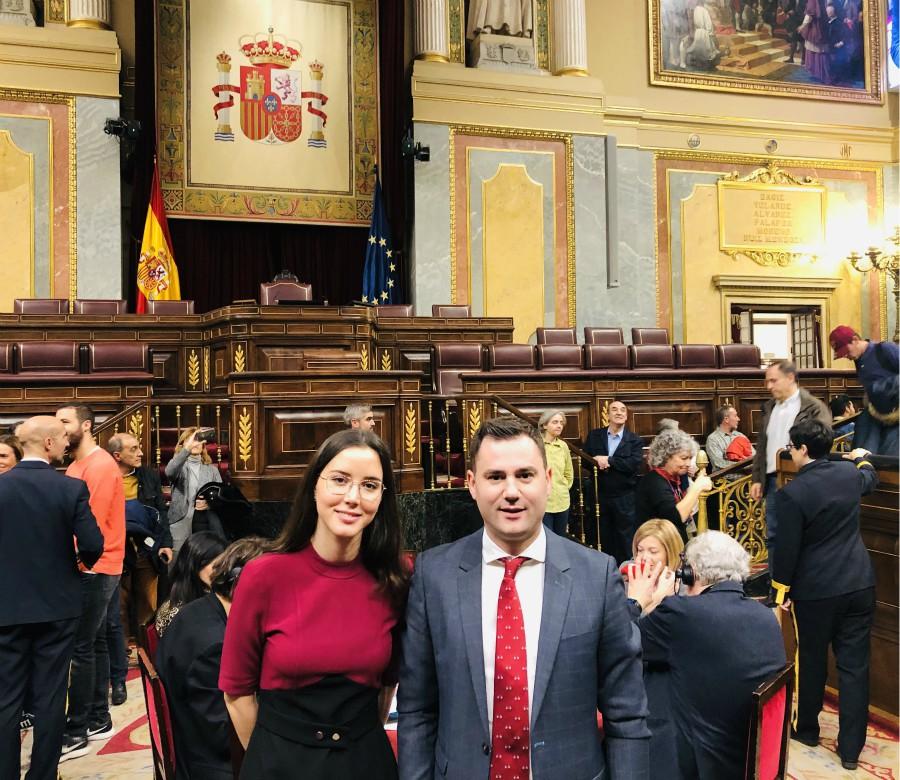 Los diputados del PSOE de León participan en la jornada de puertas abiertas de la Cámara Baja
