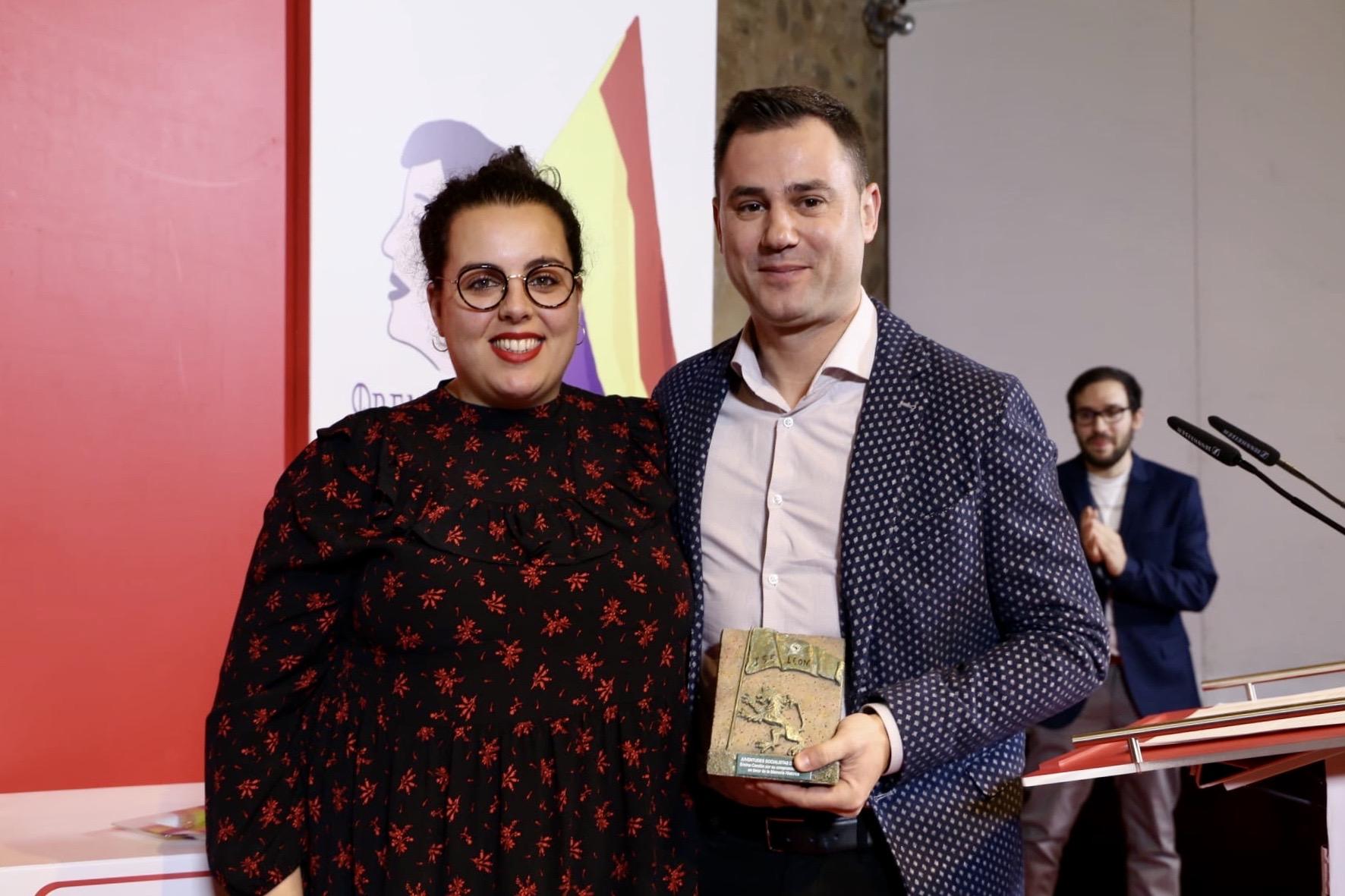 Juventudes Socialistas de León homenajea la figura de Encina Cendón en su labor por la recuperación de la memoria histórica