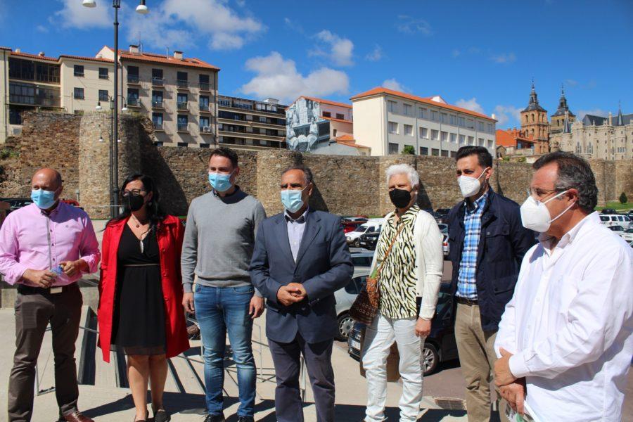 Cendón pone en valor la inversión del Gobierno nacional en Astorga como revulsivo del patrimonio turístico en la provincia